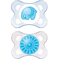 MAM Clear Soother 0m+ 2Pk
