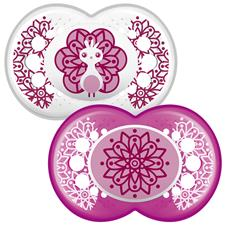 MAM Clear Soother 6m+ 2Pk