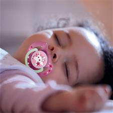Philips Avent Night-Time Soothers Pink 6-18m 2Pk