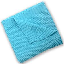 Silvercloud Cotton Blanket Turquoise