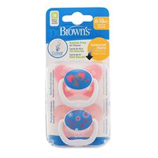Supplier of Dr Brown's PreVent Soother Pink 6-12m 2Pk