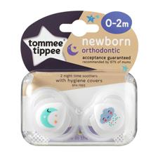 Tommee Tippee Closer to Nature Newborn Night Time Soothers 0-2m 2Pk
