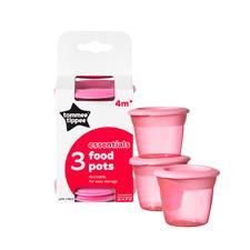 Tommee Tippee Essentials Basic Food Pots 3Pk
