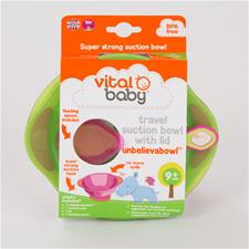 Vital Baby Unbelievabowl Travel Suction Bowl Set Orange