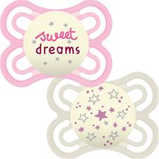 Wholesale of MAM Perfect Night Soother 0m+ 2Pk