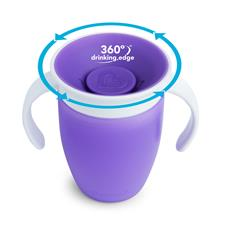 Wholesale of Munchkin Miracle 360 Trainer Cup Purple 207ml