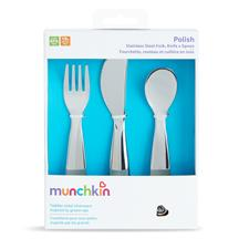 Wholesale of Munchkin Polish Stainless Steel Cutlery Set 3Pk