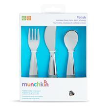 Wholesale of Munchkin Polish Stainless Steel Cutlery Set 3Pk