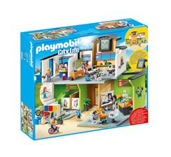 Wholesale of Playmobil City Life Furnished School Building with Digital Clock