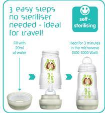 Baby products wholesaler of MAM Easy Start Anti-Colic Bottle Blue 260ml 3Pk