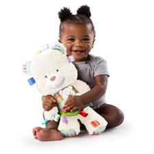 Bright Starts Taggies Snuggle & Play Bear With Chime