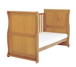 East Coast Langham Sleigh Cot Bed with Draws - Oak