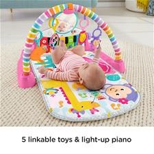 Fisher-Price Kick and Play Piano Pink Gym