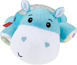Hippo Plush Projection Soother Face Zoom