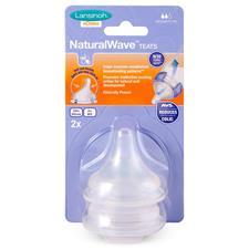 Lansinoh Natural Wave Teat Medium Flow 2Pk