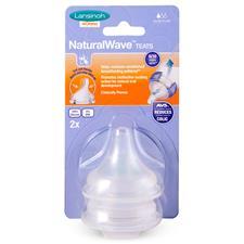 Lansinoh Natural Wave Teat Slow Flow 2Pk