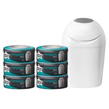 Tommee Tippee Sangenic Tec Starter Pack with 6 Cassettes