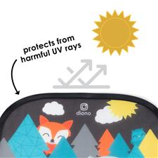 Supplier of Diono Sun Stopper Cling Shades Animals 2Pk