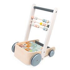 Supplier of Janod Sweet Cocoon Cart with ABC blocks