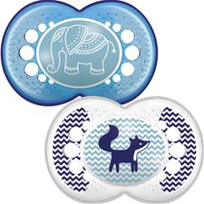 Supplier of MAM Clear Soother 6m+ 2Pk
