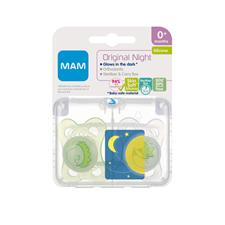 Supplier of MAM Original Night Soother Blue 0m+ 2Pk