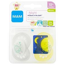 Supplier of MAM Original Night Soother Blue 6m+ 2Pk