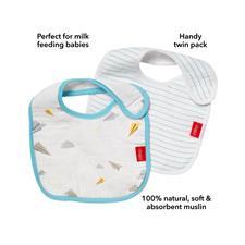 Supplier of Nuby Muslin Snug n Dry Bib 2Pk