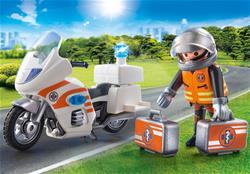 Supplier of Playmobil City Life Emergency Motorbike