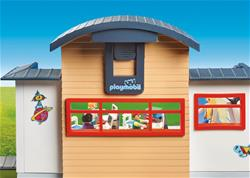Supplier of Playmobil City Life Furnished School Building with Digital Clock