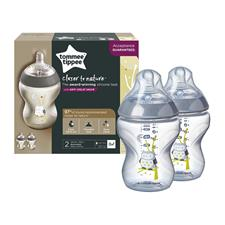 Supplier of Tommee Tippee Closer to Nature Decorated Bottle 260ml 2Pk