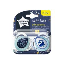 Supplier of Tommee Tippee Closer to Nature Night Time Soother 0-6m 2Pk