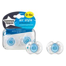 Tommee Tippee Closer to Nature Air Style Soothers 0-6m 2Pk