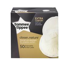 Supplier of Tommee Tippee Closer to Nature Disposable Breast Pads 50Pk