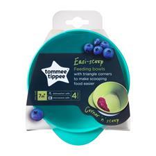 Tommee Tippee Easy Scoop Feeding Bowls 4 Pk