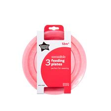 Tommee Tippee Essentials Basic Plates 3Pk