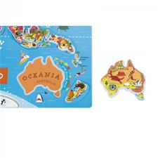 Wholesale of Janod Magnetic World Map Puzzle