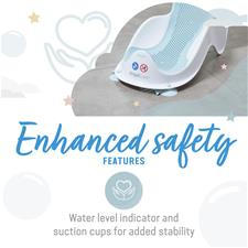 Baby products distributor of Angelcare Soft-Touch Mini Baby Bath Support Aqua