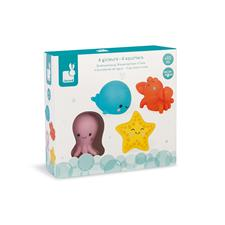 Baby products distributor of Janod Sea Creatures Squirters 4Pk