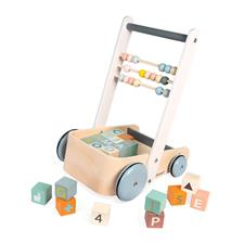 Baby products distributor of Janod Sweet Cocoon Cart with ABC blocks