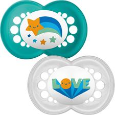 Baby products distributor of MAM Style (I Love) Soother 6m+ 2Pk
