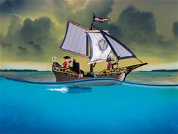 Baby products distributor of Playmobil Pirates Redcoat Caravel