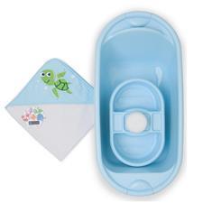Mothercare 5pc Newborn Blue Bath Set