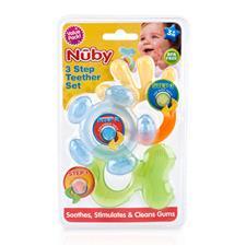 Nuby 3 Step Teether Set 3Pk