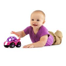 Oball Rattle & Roll Car Pink