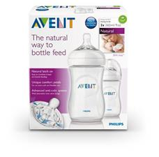 Philips Avent Natural Bottle 260ml 2Pk