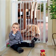 Safety First SecureTech Simply Close Extra Tall Metal Gate