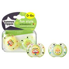 Tommee Tippee Closer to Nature Fun Air Soother 0-6m 2Pk