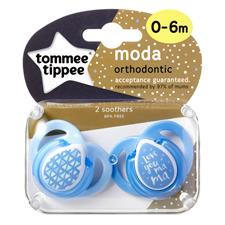 Tommee Tippee Closer to Nature Moda Soother 0-6m 2Pk