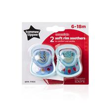 Tommee Tippee Essentials Soft Rim Soothers 6-18m 2Pk