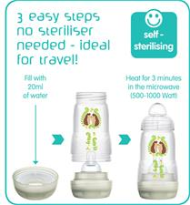 Baby products supplier of MAM Easy Start Anti-Colic Bottle Unisex 160ml 3Pk